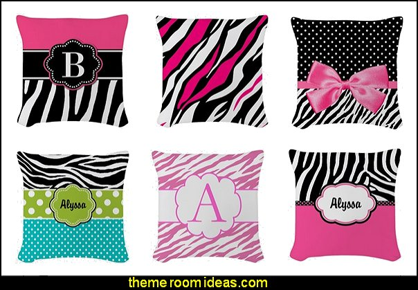 Zebra Throw Pillows Theme Bedroom Decor Decorating Ideas