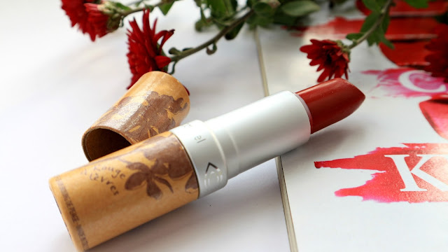 """Couleur Caramel Lipstick Protective #263 Сатиновая помада для губ """"Глубокий красный"""""""