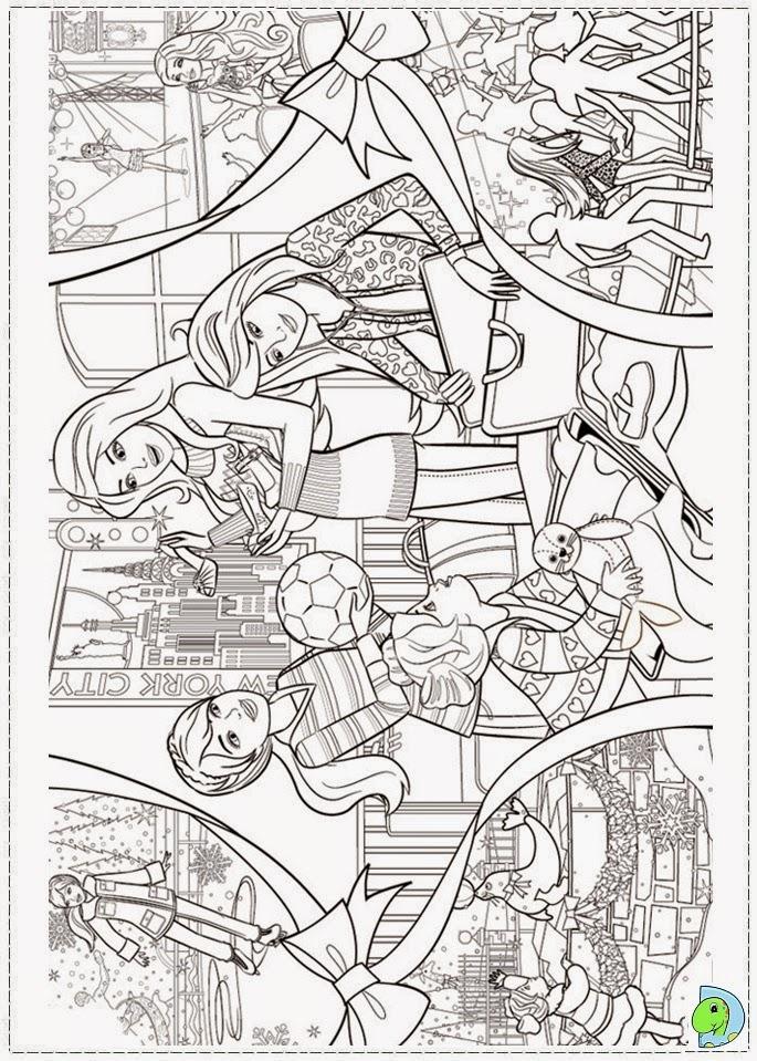 Dinokids - Desenhos para colorir: Desenhos da Barbie um