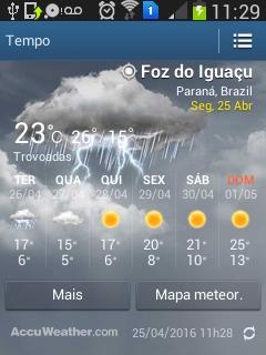 Tempo e temperatura em Foz do Iguaçu: o sol se esvai e a temperatura deve cair para 5°C nesta última semana de abril