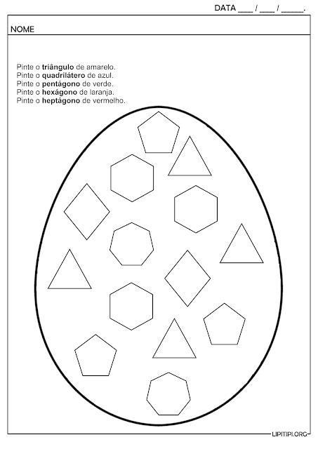 Atividade Ovo de Páscoa de Polígonos