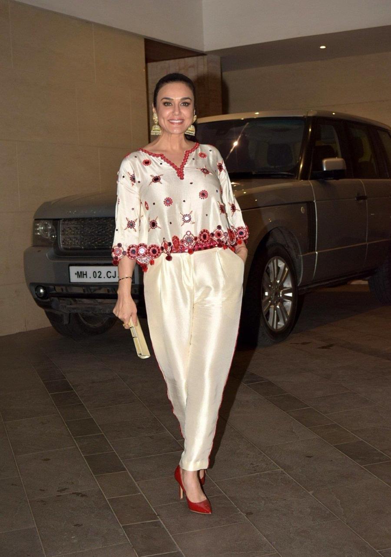 Indian Actress Preity Zinta at Jackky Bhagnani's Diwali Party In Mumbai