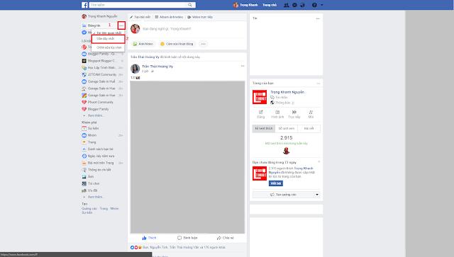 Hướng dẫn cách cập nhật các bài viết mới nhất trên bảng tin Facebook đối với máy tính