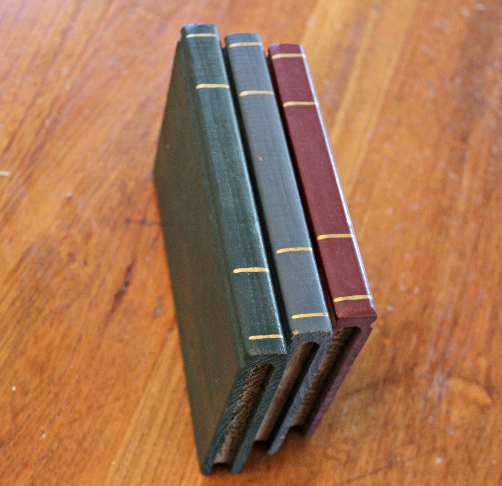 Thrift Shop Upcycled Home Interiors Wooden Books Organized Clutter