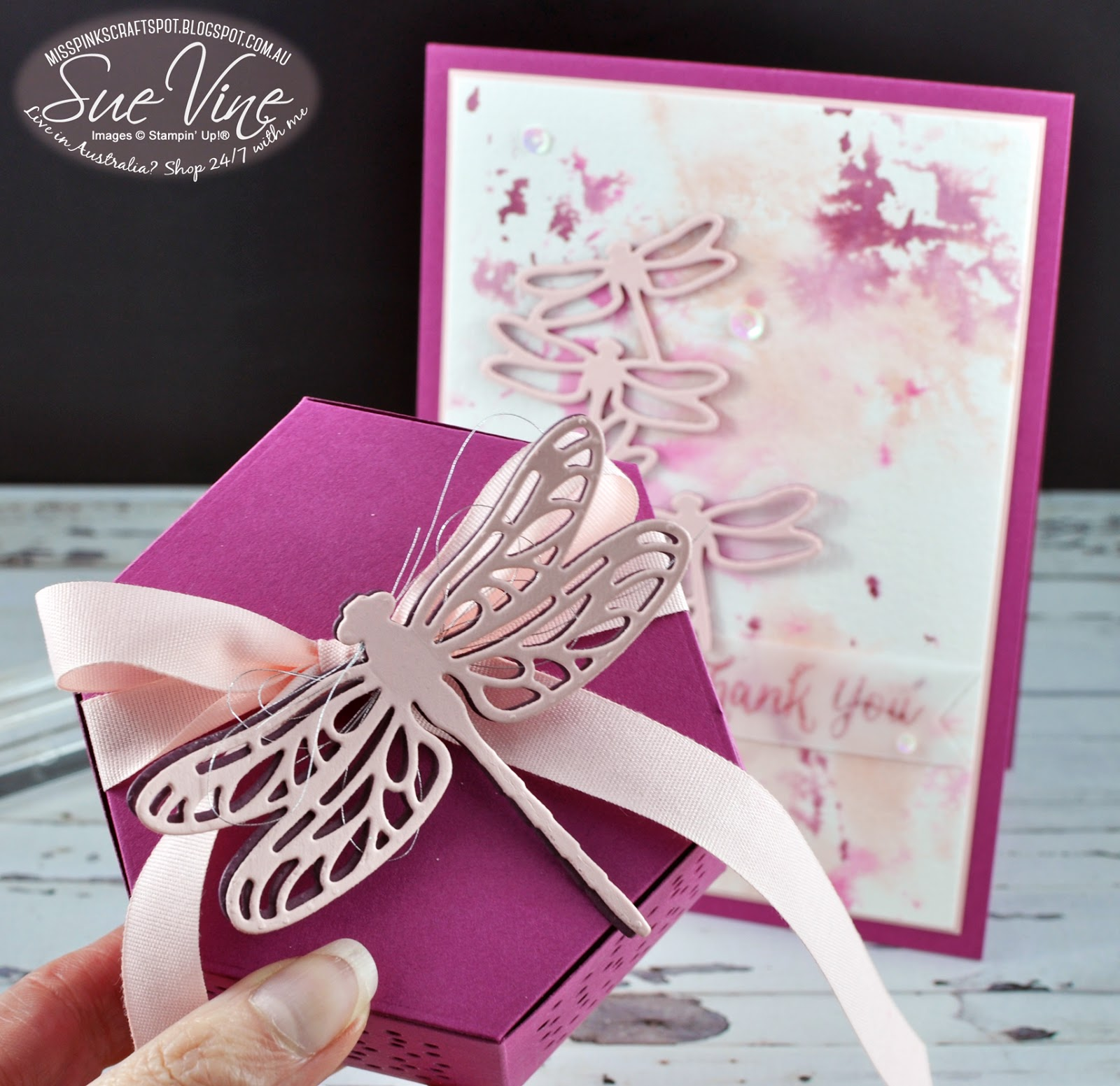 Miss Pinks Craft Spot: Thank You with Stampin Friends