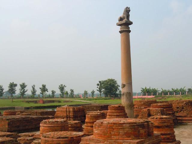 Ahokan Pillar Vaishali Bihar
