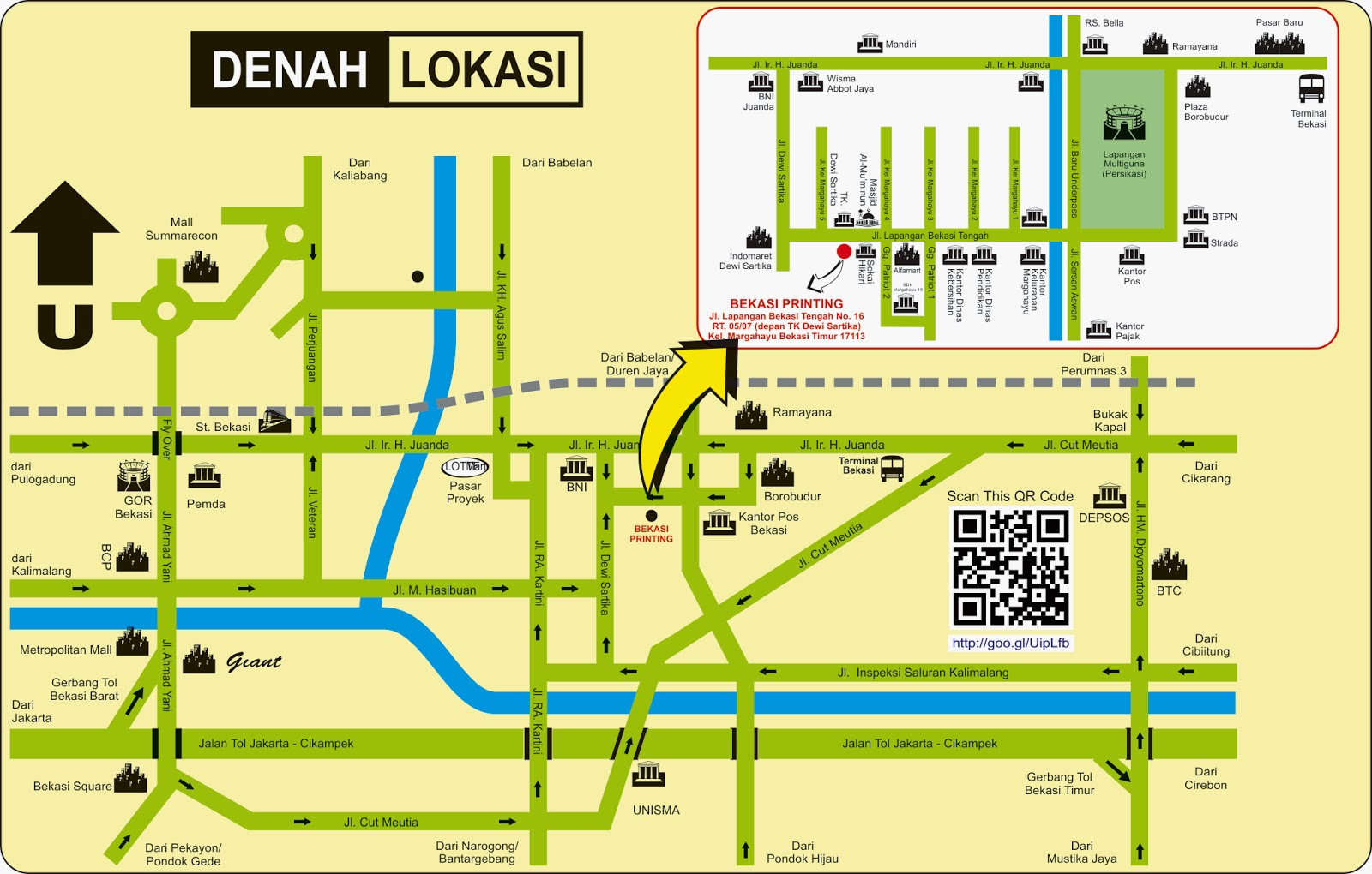 Peta Bekasi Printing