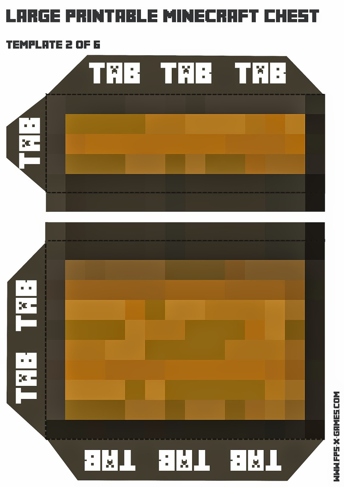 Image Result For Minecraft Papercraft Chest