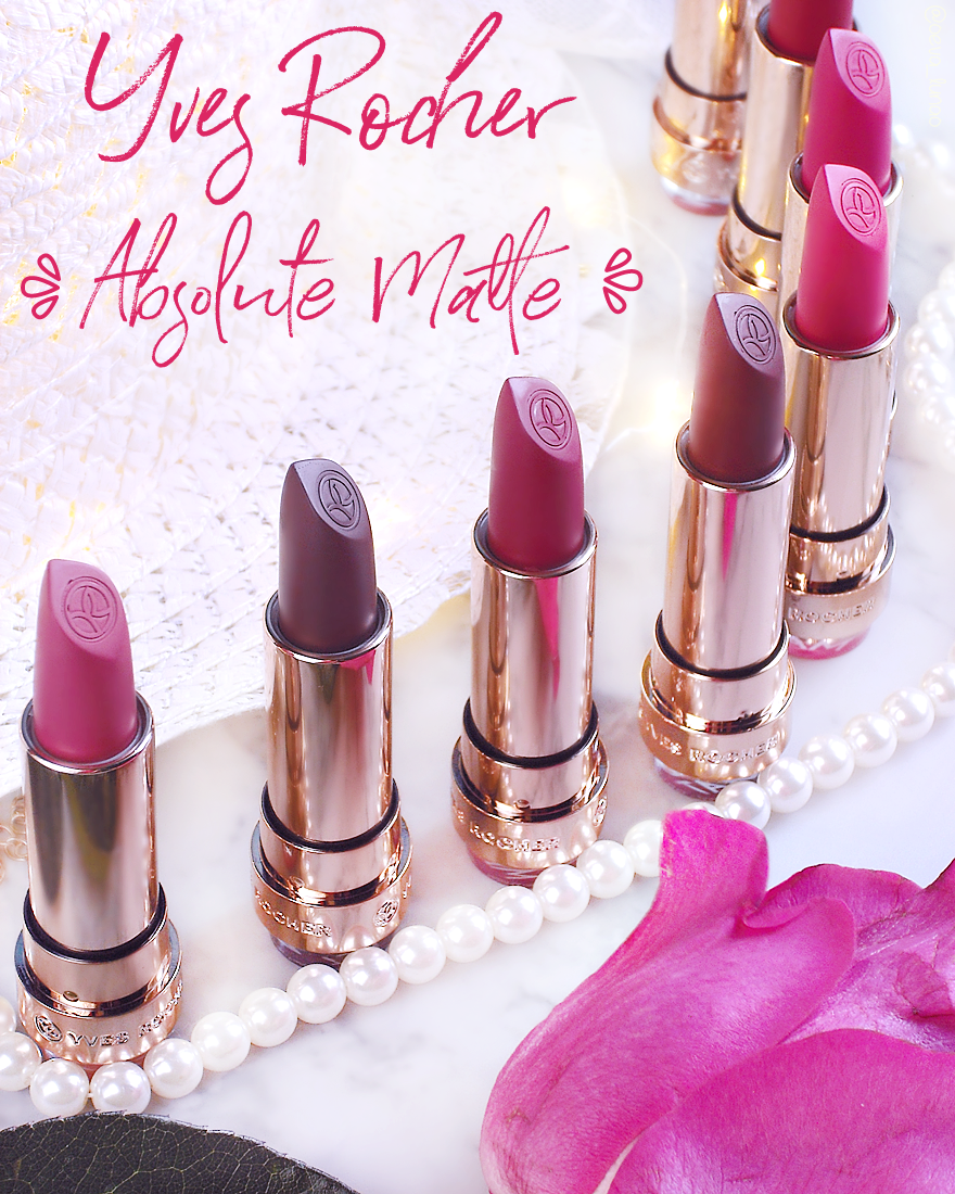 Yves Rocher Absolute Matte lipstick collection swatches review