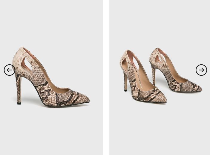 Answear - Pantofi cu toc eleganti model piele de sapre de ocazii cu decupaj