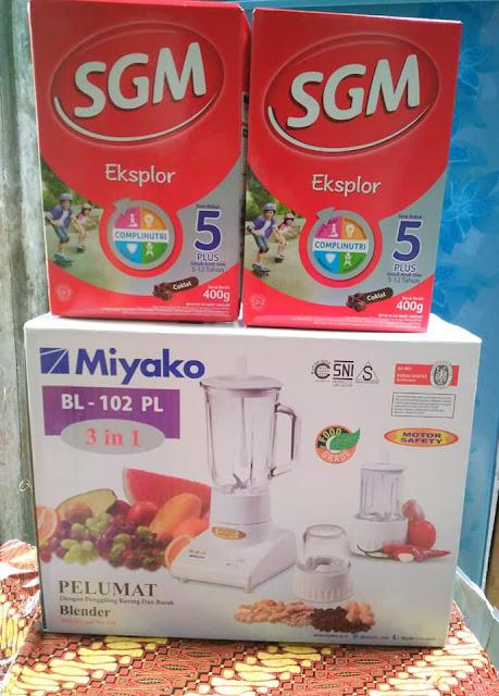 Hadiah Tambahan Peringkat 1 Poin Prestasi Blender Miyako
