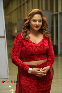 Actress Nikesha Patel Pictures in Red Dress at Araku Road Lo Audio Launch  0003.JPG