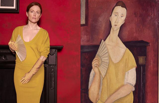 Mulher com Abanador, 1919 por Amadeo Modigliani
