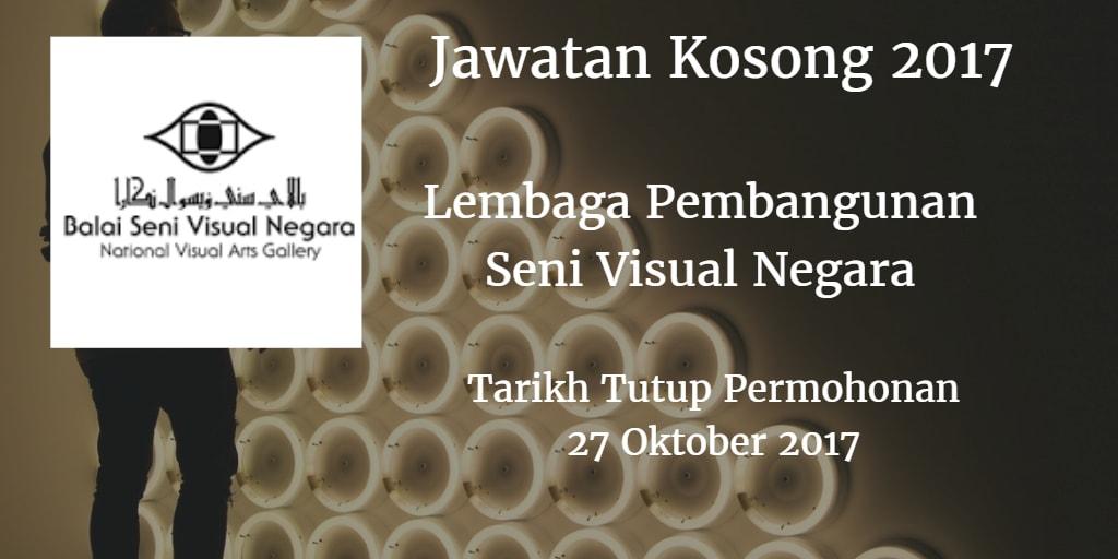 Jawatan Kosong Lembaga Pembangunan Seni Visual Negara 27 Oktober 2017