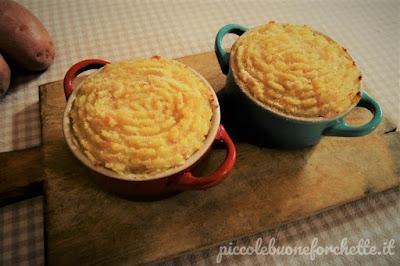 foto Ricetta purè di patate gratinato al forno con prosciutto cotto e stracchino