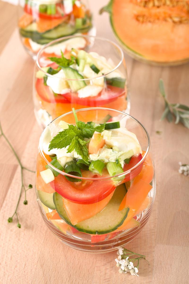 Eine pfiffige Idee- Salat im Glas. Rezepte für Salate. Edyta Guhl.