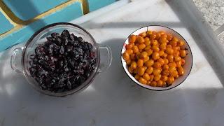 Замороженные ягоды жимолости и облепихи очень к месту ранней весной