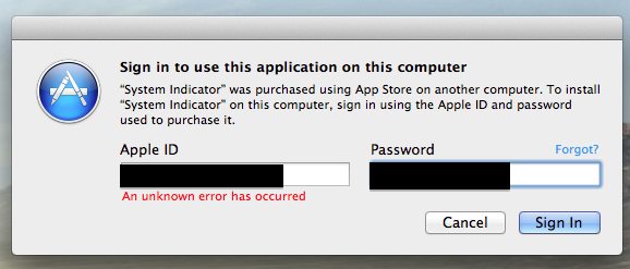 "App Store FIX ""An unknown error has occurred"" For Hackintosh"