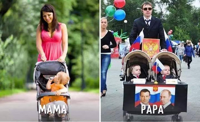 Mom vs dad funny pics