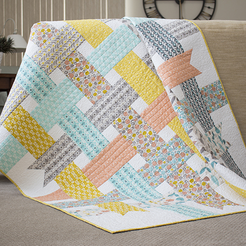 Ribbon Box Quilt Free Pattern by Cloud9 Fabrics.