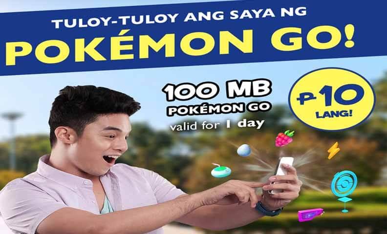 TM offers POGO10 Promo - 100MB Pokemon Go for 10 Pesos