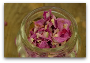 how to dry rose petals for tea
