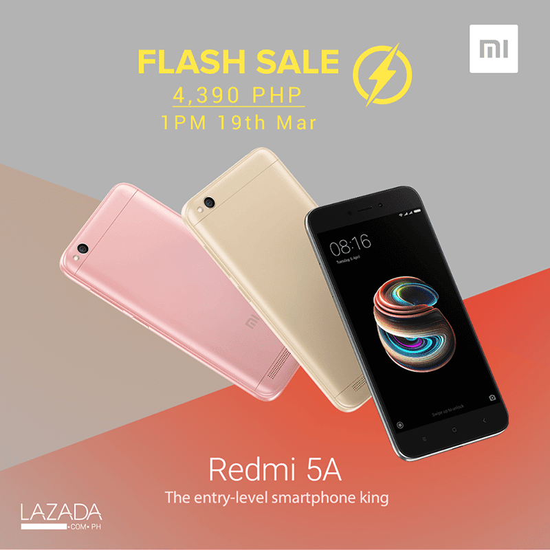 Another Xiaomi Redmi 5A Lazada flash sale announced!