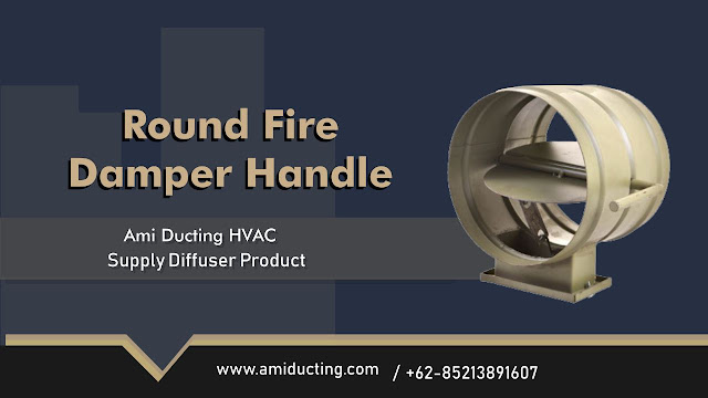 Round Fire Damper Handle Aksesoris Ducting