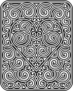 Swirly heart coloring page available in jpg and transparent png format