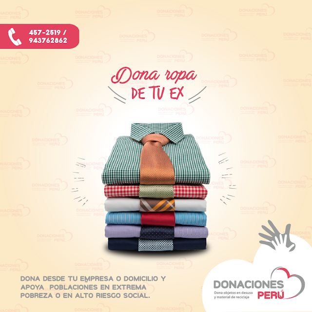 Dona la ropa de tu ex - Dona Perú - Donaciones Perú - Dona ropa