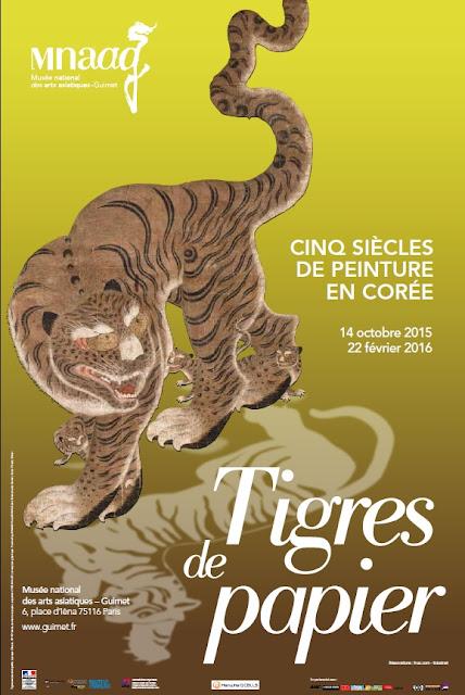 affiche exposition musée guimet tigres de papier