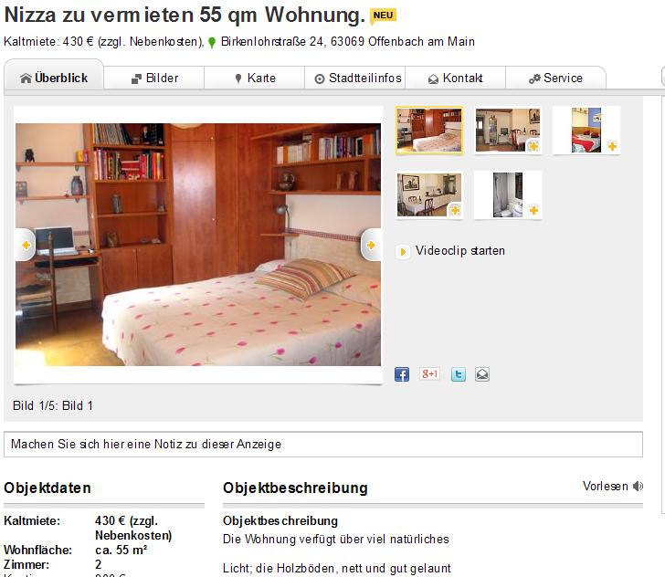 6 januar 2014 for 2 zimmer wohnung offenbach
