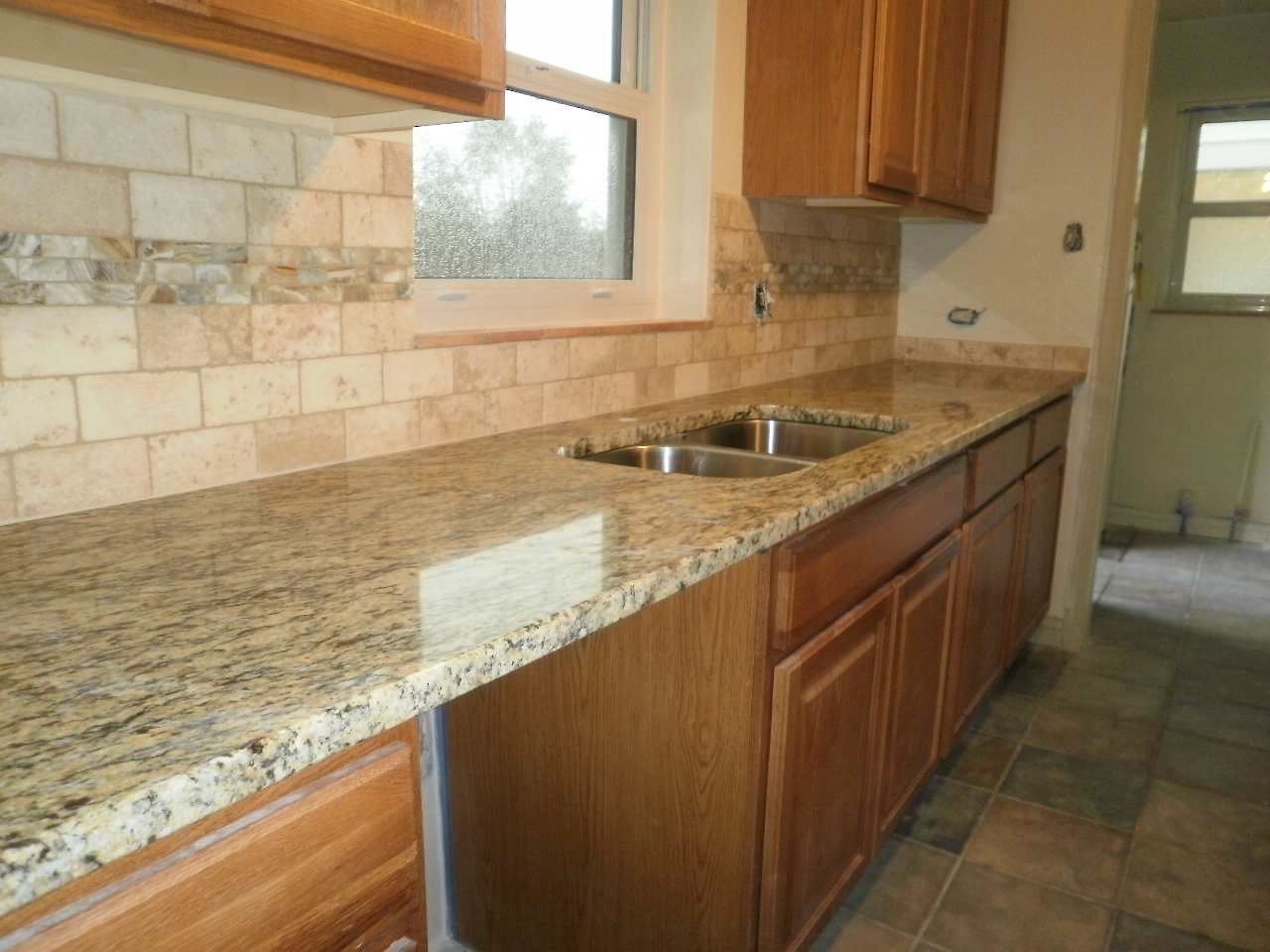 Pictures Of Granite Kitchen Countertops And Backsplashes Painted Cabinets Integrity Installations A Division Front
