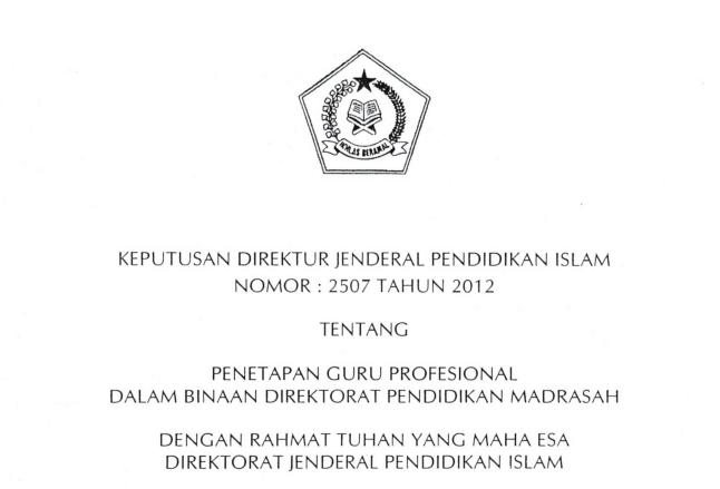 2507 TAHUN 2012