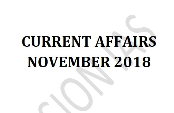 Vision IAS Current Affairs November 2018 pdf