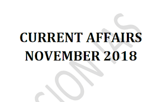 Vision IAS Current Affairs November 2018 - Download PDF