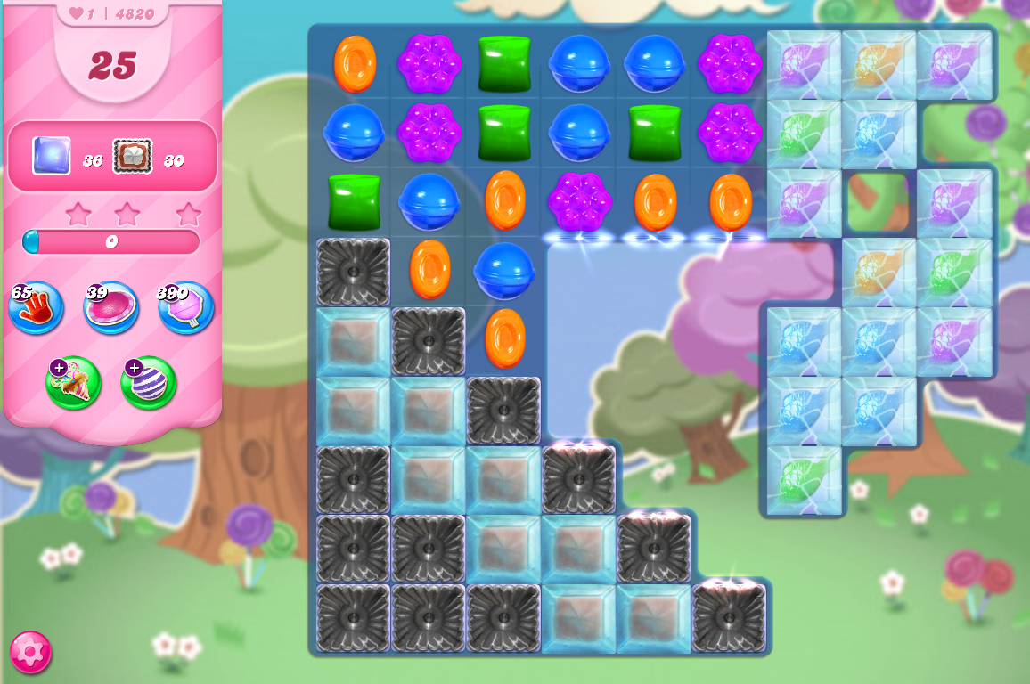Candy Crush Saga level 4820