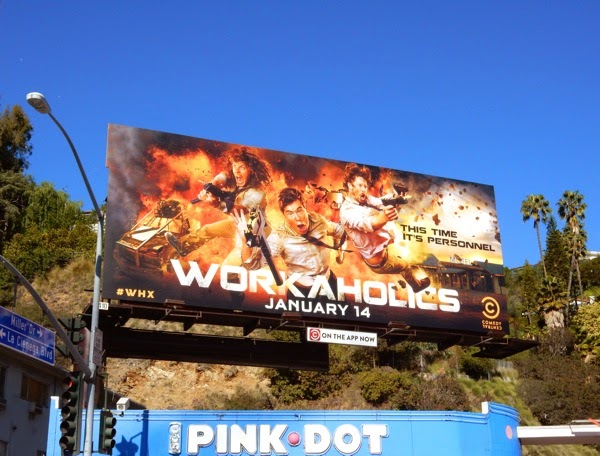 Workaholics season 5 Comedy Central billboard