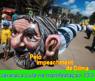Pelo impeachment de Dilma Jararaca Lula vai na manifestação em 13-3