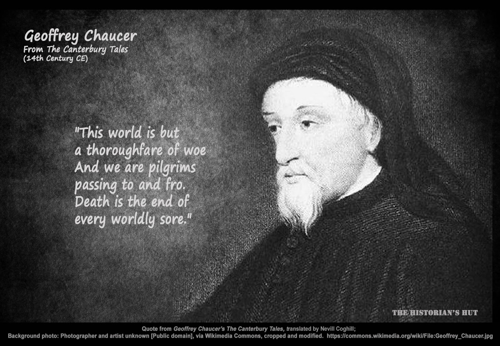 geoffrey chaucers use of sarcasm to The canterbury tales by geoffrey chaucer: character analysis free study guide for the canterbury tales by geoffrey chaucer previous page.