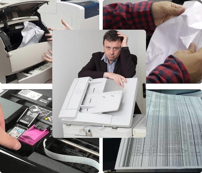 Lỗi thường gặp khi sử dụng máy photocopy