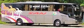 rute dan Harga Tiket Bus SAN Bengkulu