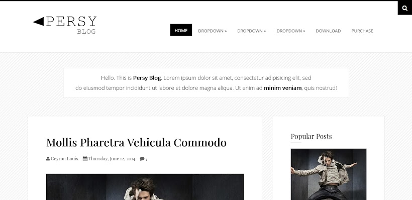 Persy Free Blogger Template