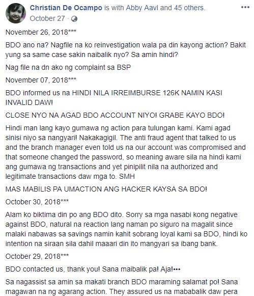 Mag-Asawa, Nagreklamo Dahil Sa Pagkawala Ng 126K Sa BDO Account Nila!