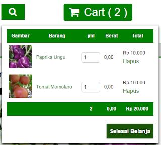 Tampilan Keranjang Belanja Di BibitBunga.Com