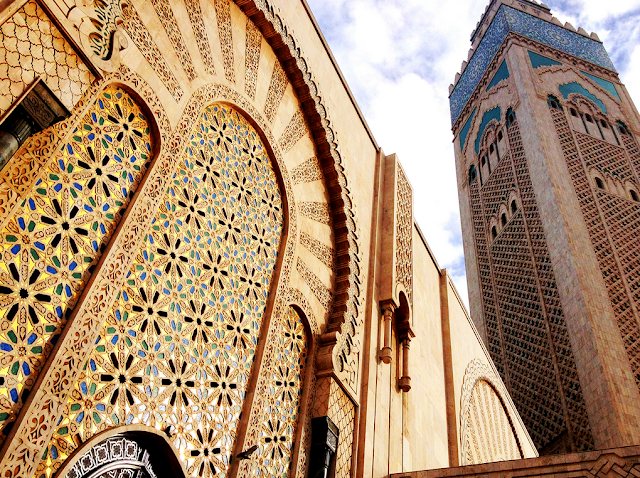 Hassan II Mosque Minaret and Architected