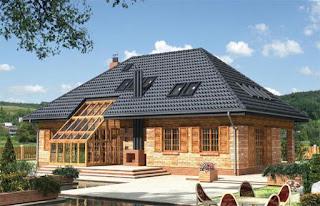 Télikert építés tető