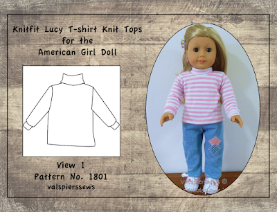 Doll clothes collection of knit tops for American Girl Dolls