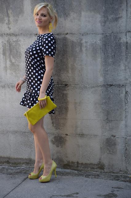 abbinamento giallo e nero come abbinare il giallo e nero black and yellow how to wear black and yellow mariafelicia magno fashion blogger color block by felym  blogger italiane di moda pois