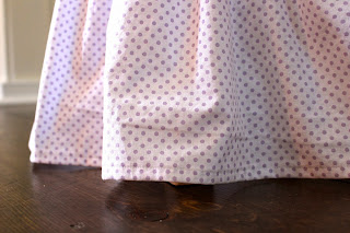 hem gathered skirt